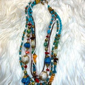 Multi Strand necklace chocker. GUC